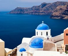 The stunning blue waters of Greece