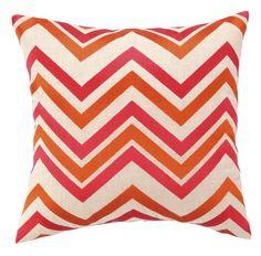 Chevron Embroidered Decorative Pillow