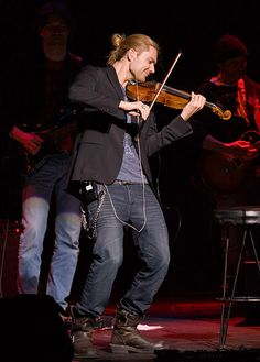 Violinist David Garrett, love his music, saw him play in Chicago.  We were the last row in the balcony, still a great show even from the nose bleed seats!
