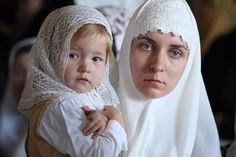 Orthodox Christian mother and child.  Beautiful!
