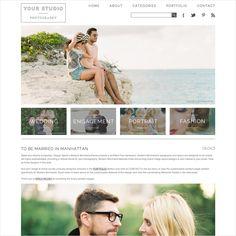 Website templates for modern photographers. #prophoto #designaglow