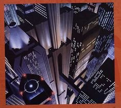 """Gotham Cityscape created for """"Batman: the Animated Series."""""""