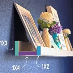 Make your own photo ledge for easily changeable art work and decor!