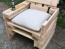 Lounge Sessel aus Paletten