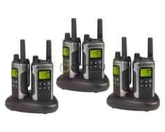 Motorola TLKR T80 Rugged Walkie Talkie Six Pack - 10km Range Licence Free PMR 446 - Great for the whole family