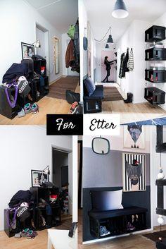 Sjekk den forvandlingen - gangen ble plutselig favorittrommet til eierne: http://www.rom123.no/f%C3%B8r-og-etter/toff-og-praktisk-entre/