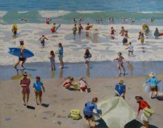 Peggi Kroll-Roberts Art Painting, Landscape Paintings, Beach Painting, Beach Scenes, Beach Artwork, Painting, Peggi Kroll Roberts, Art, Seascape