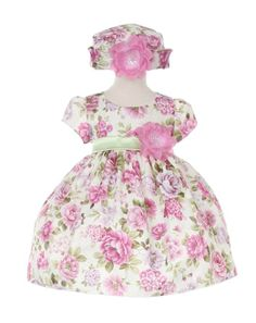 Amazon.com: Cinderella Couture Baby-Girls Lavender Bouquet Flower Jacquard Dress & Hat: Clothing