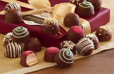Experience exceptional chocolates and treats delivered to your door. Shop Harry & David to send gourmet chocolates & sweets like truffles, candies & more. Chocolate Photos, Types Of Chocolate, Chocolate Brands, I Love Chocolate, Gourmet Desserts, Gourmet Recipes, Candy Photography, Italian Chocolate, Dark Chocolate Truffles