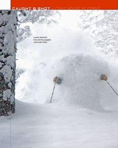 Luckily Martha's new anti-fog goggles came with radar. photo: CRAIG MOORE * snow: Fernie BC