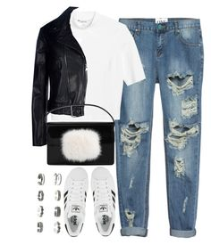"""Untitled #3624"" by london-wanderlust ❤ liked on Polyvore featuring One Teaspoon, Monki, adidas, Mauro Grifoni and Yves Saint Laurent"