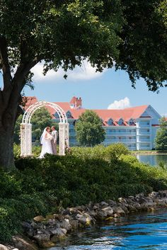 We're in love with this unique view of Picture Point at Disney's Wedding Pavilion