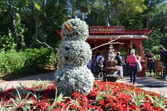 Snowman topiary in Germany - Epcot Holidays Around the World 2014