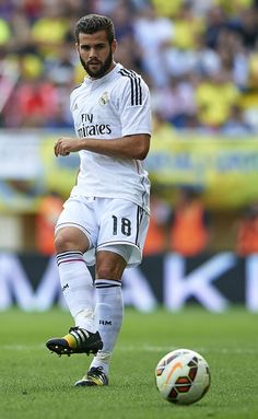 Nacho of Real Madrid in action during the La Liga match between Villarreal CF and Real Madrid at El Madrigal on September 27, 2014 in Villarreal, Spain.