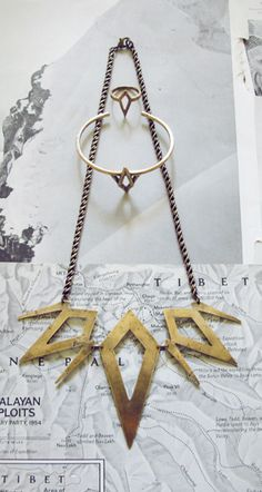 Love these geometric pieces | http://laurelhilljewelry.com/holy-mountain-lookbook/