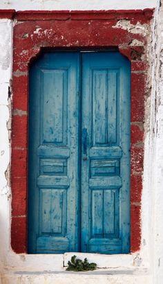 Oia, Santorini, Greece door.  ..rh