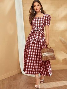 Beautiful Maxi Dresses, Pretty Dresses, Simple Fall Outfits, Casual Dresses, Summer Dresses, Tweed Dress, Elegant Outfit, Cotton Dresses, Dress Skirt