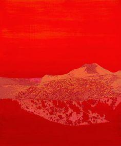 """Géomorphogonie -1-,"" original landscape print by artist  Marie Elaine Lalonde (Canada) available at Saatchi Art #SaatchiArt"