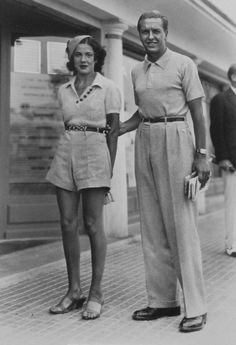 France. Deauville beach fashion - 1930s