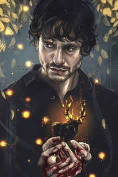 Such a beautiful Will fan art!}< don't know who is this guy but yes it's beautiful Hannibal Lecter, Hannibal Tv Series, Nbc Hannibal, Will Graham Hannibal, Divas, Sir Anthony Hopkins, Reality Shows, Captive Prince, Hugh Dancy