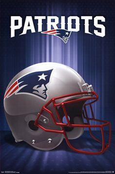New England Patriots Helmet Logo NFL Sports Poster