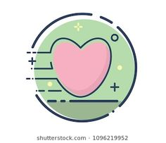 love icon design illustration,line filled style design, designed for web and app