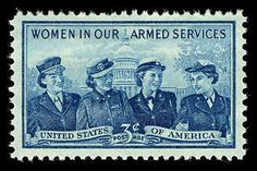A commemorative stamp honoring women serving in the US armed forces was issued on September 11, 1952, in Washington, DC. Over 40,000 women served in the armed forces during World War II. The stamp features four service women, attired in the uniforms of branches of service represented, those being marines, army, navy, and air corps. The US Capitol appears in the background. #USHistory #History #WHM #WomensHistoryMonth #WomensHistory