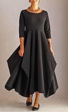vestido+negro+falda+cuadrados.jpg (243×400)