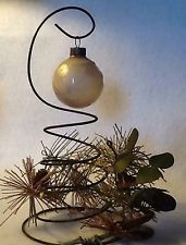 Primitive Christmas Ornament with Old Spring Display ~ OOAK