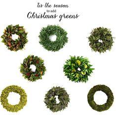 fresh Christmas wreaths at One Kings Lane