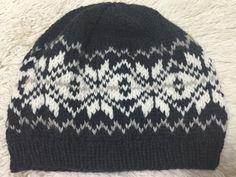 雪模様の帽子