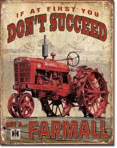Farmall Succeed | Tin | Metal | Sign | Nostalgic | Vintage | Retro | Tractor | A Simpler Time