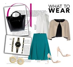 """""""Look 336: Only I Can Love Myself"""" by hermioneyouarewelcome ❤ liked on Polyvore featuring Michael Kors, Roland Mouret, D.Exterior, Gianvito Rossi, Massimo Castelli, Anne Klein, WorkWear, workingfashion, workblazer and TVinspiredfahion"""