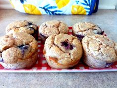 These Keto friendly muffins are gluten free, soft, naturally sweet, and contain only 3.3g net carbs per serving! They are lovely served warm from the oven (and can be frozen to use as needed). Gluten Free Recipes, Low Carb Recipes, Lemon Muffins, Blueberry, Breads, Oven, Keto, Warm, Baking