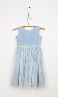 1950s Blue Tulle Dress