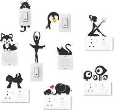 Socket art designs - Home decor interests Simple Wall Paintings, Creative Wall Painting, Wall Painting Decor, Creative Walls, Diy Wall Art, Diy Room Decor Tumblr, Cute Diy Room Decor, Diy Wall Decor, Art Decor