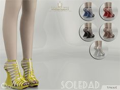 The Sims Resource: Madlen Soledad Shoes by MJ95 • Sims 4 Downloads