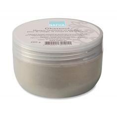 NAFHA-Ghassoul Dermatologico   Tradizionalmente utilizzata dalle donne, questa polvere, mischiata con acqua, è un trattamento detergente ultra dolce per il corpo e i capelli. Il Ghassoul Dermatologico Nafha restituirà morbidezza al vostro corpo
