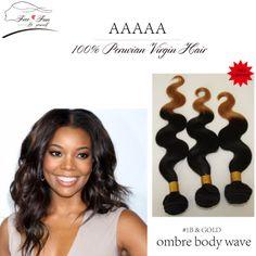 """Free shipping 3pcs lot 100g Unprocessed 100% Peruvian Virgin Human Hair Extensions 12""""-30"""" cheap Ombre Body Wave  two tone color $99.75 - 201.75"""