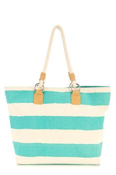 green stripe tote bag... perfect for the beach