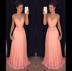 Sexy Evening Gowns Pink Prom Dress, Pageant Prom Gown, Evening Gowns with Sweep Train