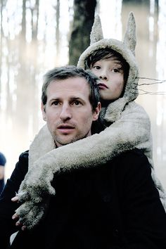 Spike Jonze and Max Records on the set of Where the Wild Things Are.