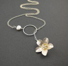 Magnolia Lariat Necklace by Camla