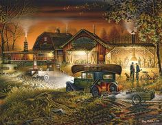 White Mountain - Terry Redlin Morning Warm Up Jigsaw Puzzle - 1000 pc