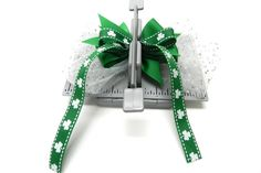 Create a boutique style hair bow with Mini Bowdabra, Hair Bow Tool & Ruler for St. Patrick's Day