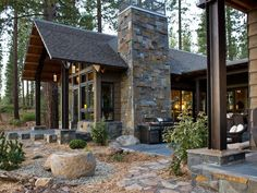 Love the chimney  - Backyard Pictures From HGTV Dream Home 2014 on HGTV