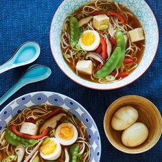 Ramen Soup with Tofu Tofu Ramen, Ramen Soup, Healthy Cooking, Cooking Recipes, Homemade Ramen, Vegetarian Recipes, Healthy Recipes, Easy Meals For Kids, Nutritious Snacks