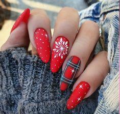 Cute Acrylic Nail Designs, Best Acrylic Nails, Nail Art Designs, Xmas Nails, Holiday Nails, Christmas Nails, Nail Art Noel, Nagellack Trends, Dream Nails