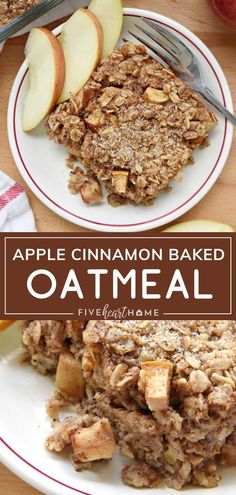 Start Mothers Day morning with a wholesome breakfast idea you can make ahead! Apple Cinnamon Baked Oatmeal is an instant Healthy Oatmeal Recipes, Healthy Breakfast Recipes, Healthy Baking, Brunch Recipes, Dinner Recipes, Oatmeal Breakfast Recipes, Instant Oatmeal Recipes, Quick Oat Recipes, Healthy Apple Desserts