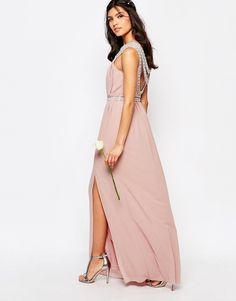 Image 4 ofTFNC WEDDING Embellished Maxi Dress